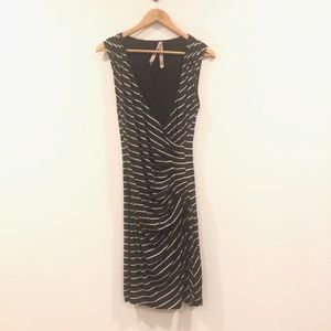 ANTHRO Bailey 44 Tiered Midi Dress MED